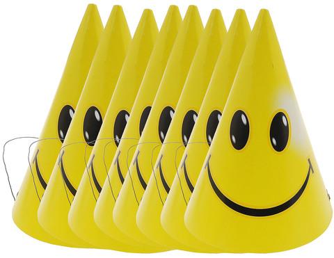 Колпачки Смайлы желтые