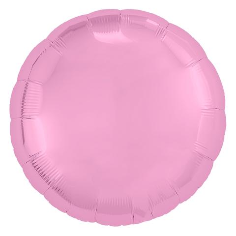 Воздушный шар круг Светло-розовый Фламинго, 45 см