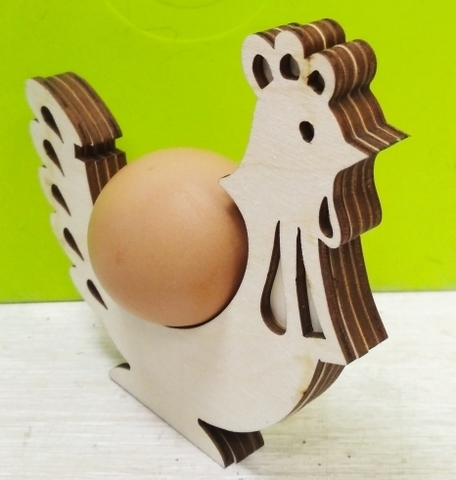 Петушок подставка на одно яйцо. четырехслойная