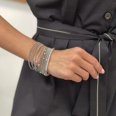 Браслет пружинка с серебряными бусинами  оптом и в розницу