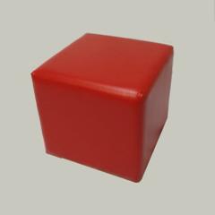Банкетка куб BN-007, 340х340х340мм (красный)