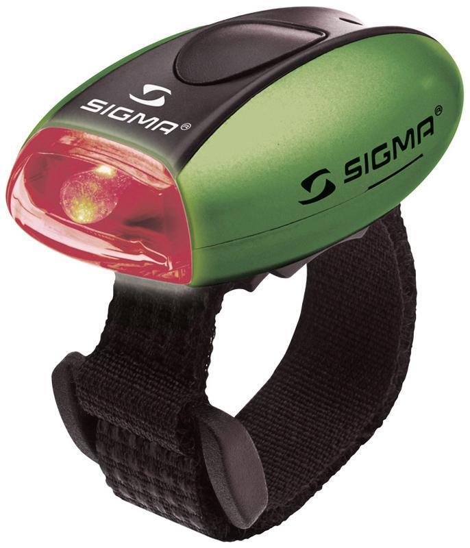 Фонарь задний SIGMA MICRO-R зеленый, красный диод