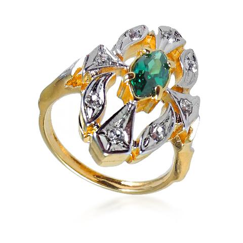 Кольцо с позолотой Маркиза