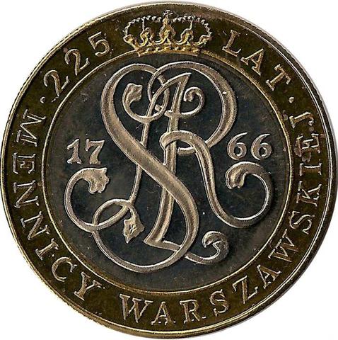 20000 злотых. 225 лет Монетному двору. 1991 год. Польша. UNC