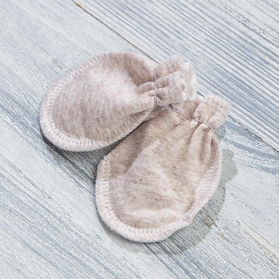 Царапки-рукавички с начесом для недоношенных и маловесных
