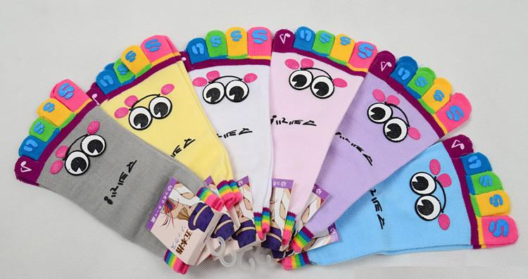 Носки «5 пальцев» в японском стиле с аппликациями, 10 пар