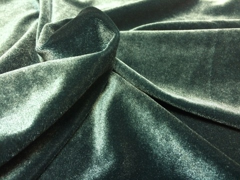 Ткань велюр зеленый 3078