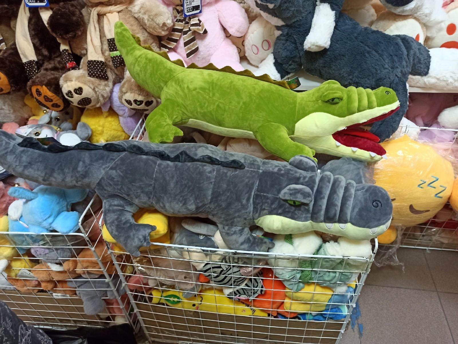 Крокодил серый 70 см