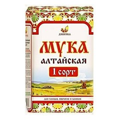 Мука пшеничная, Дивинка, Алтайская, сорт 1, хлебопекарная, 2 кг