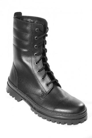 Ботинки с высоким берцем хромовые утепленные искусственный мех