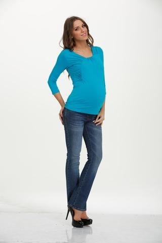 Лонгслив для беременных 01527 голубой