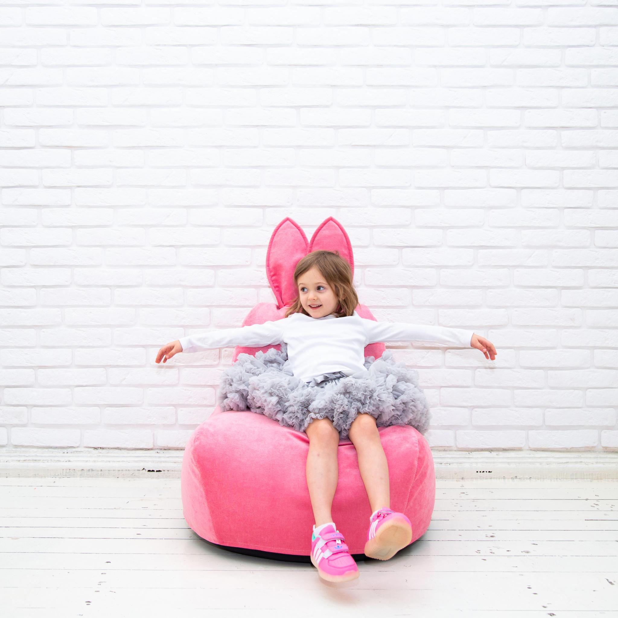 Кролик S  микровельвет (розовый)