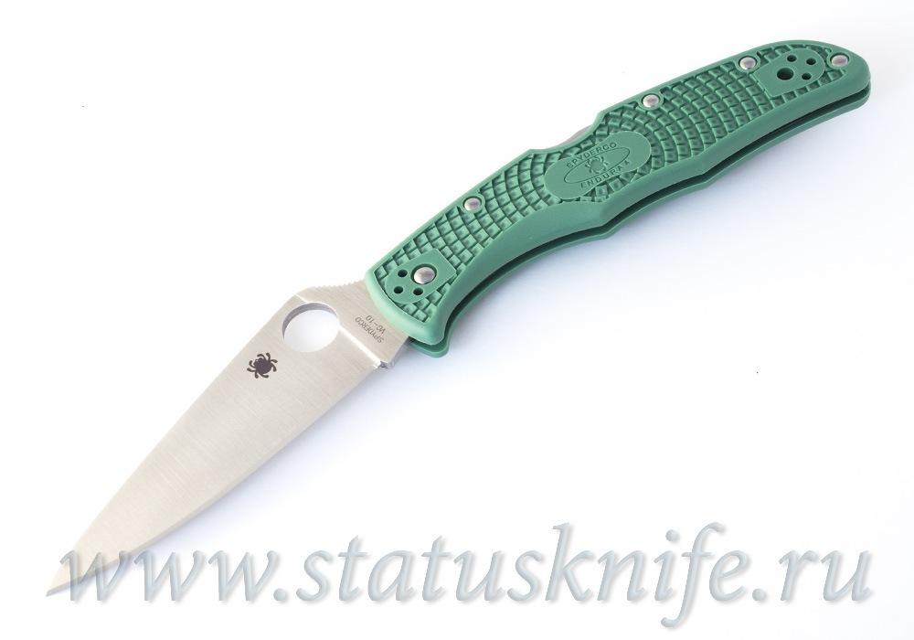 Нож Spyderco Endura Flat Ground Green C10FPGR