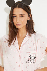 Піжама в сорочковому стилі зі штанами капрі з бавовни