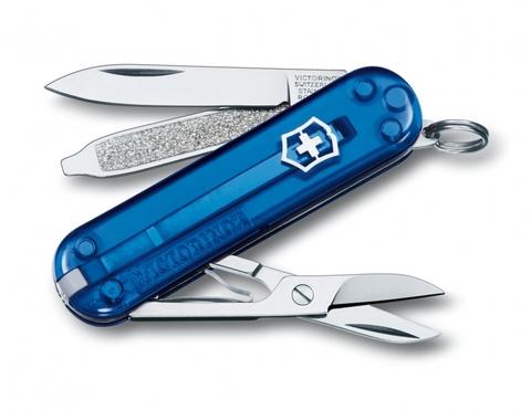 Нож Victorinox Classic синий полупрозрачный (0.6223.T2)