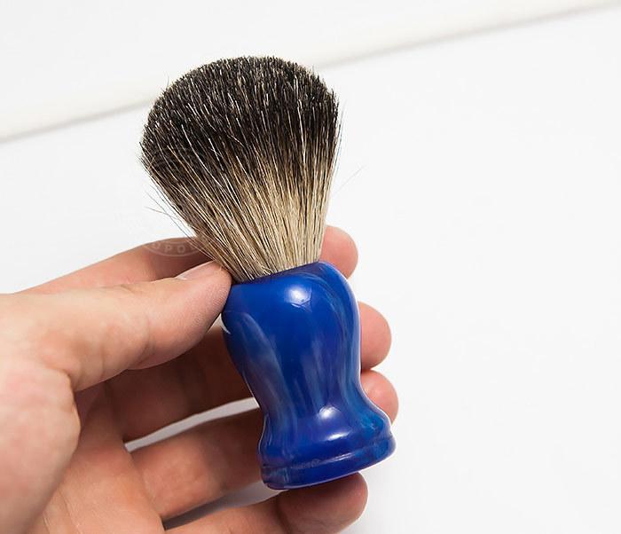 RAZ306-3 Помазок с деревянной рукояткой синего цвета фото 04