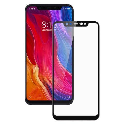 Защитное стекло 3D для Xiaomi Mi 8 (черный)