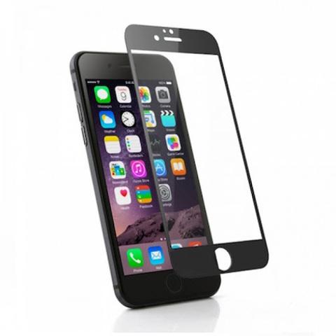 Стекло защитное для IPhone 6 (Черное)