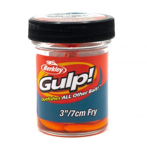 Приманка силиконовая Berkley Gulp Fry 8 см. Orange (1404400) Имитация червя