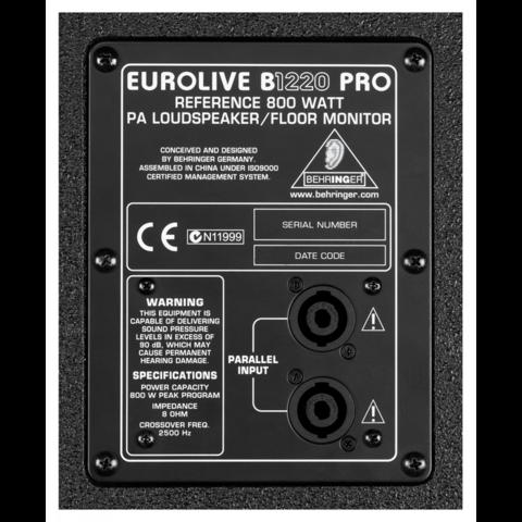 Акустические системы пассивные Behringer B1220 Pro