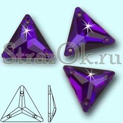 Стразы пришивные стеклянные Triangle Purple Velvet , Треугольник Перпл Велвет, фиолетовый на StrazOK.ru