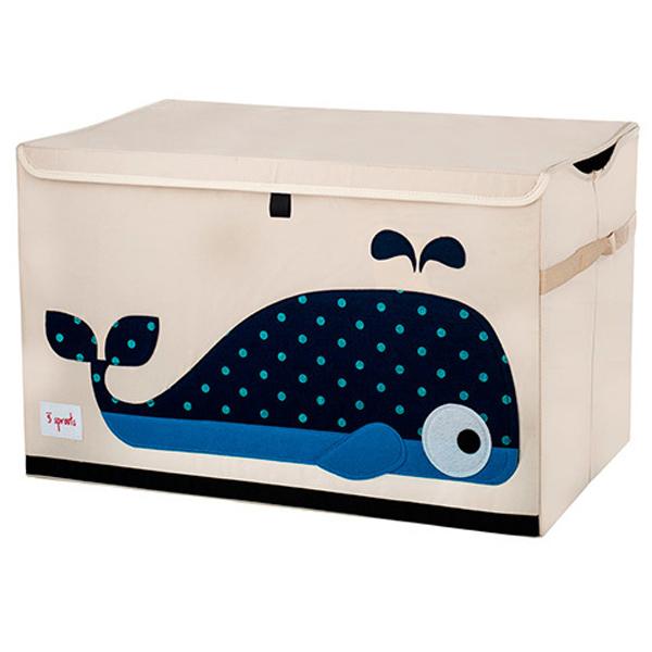 Сундук для хранения игрушек 3 Sprouts Кит (синий)