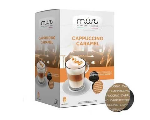 Кофе в капсулах Must Cappuccino Caramel, 16 капсул для кофемашин Dolce Gusto