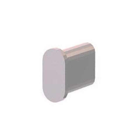 Ver 3015  Заглушка для овальной трубы 30х15х1,5 мм хром