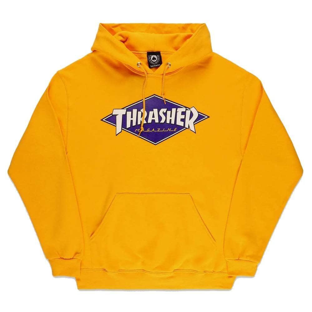Толстовка (худи) THRASHER Diamond Logo Hood (Gold)