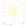 Диаграмма светораспределения аварийного светильника для холодных помещений Orion LED 100 LT IP65 Intelight