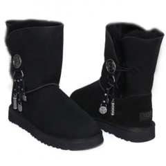 UGG Bailey Button Azalea Black