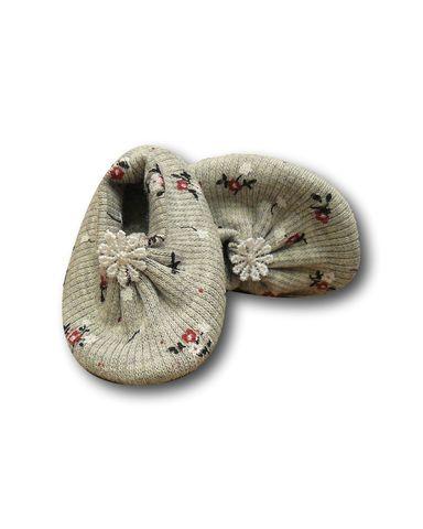 Тапочки трикотажные - Серый 1. Одежда для кукол, пупсов и мягких игрушек.