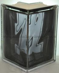 Угловой стеклоблок черный окрашенный изнутри Vitrablok 19x13x13x8