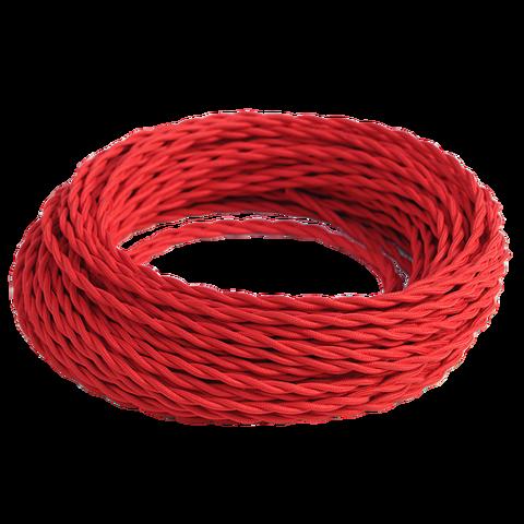 Витой ретро провод (Красный)