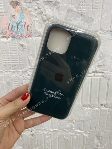 Чехол iPhone 11 Pro Silicone Case /forest green/ зеленый лес 1:1