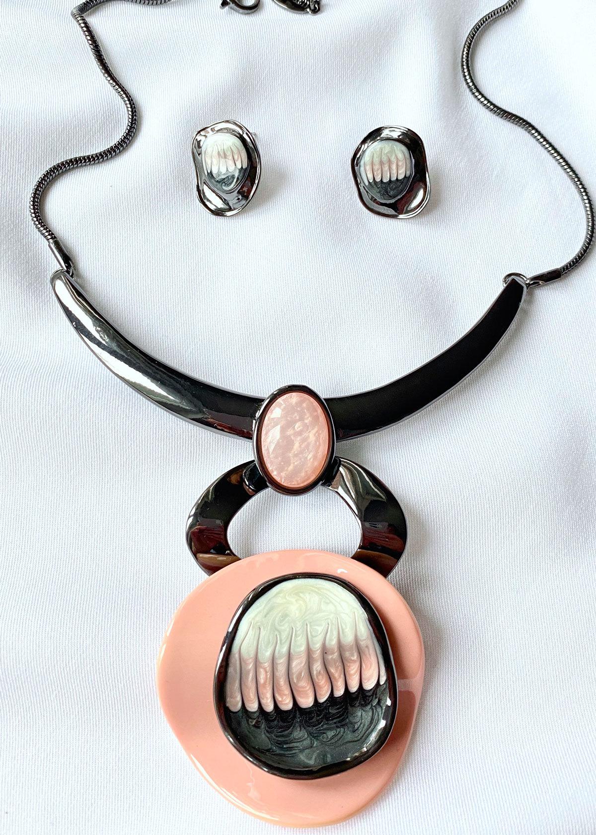 Комплект Арт Плей Мод.14 розовый (худ.стекло, глазурь, акрил)