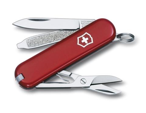 Нож-брелок Victorinox Classic, 58 мм, 7 функций, красный123