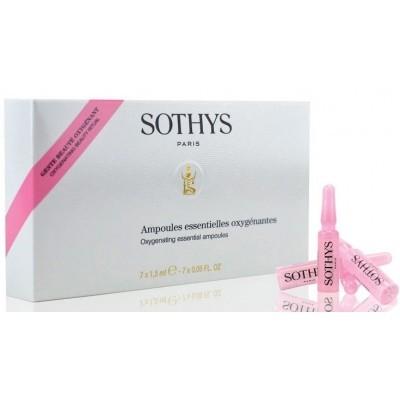 Sothys Essential Ampoules: Ампульный концентрат с кислородонасыщающим и ревитализирующим действием для лица (Oxygenating Essential Ampoules), 7*1.5мл