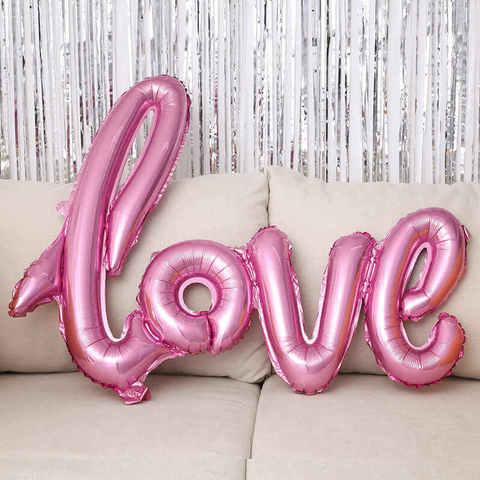 Розовые буквы прописные Love