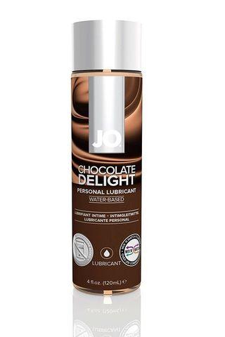 Лубрикант на водной основе с ароматом шоколада JO Flavored Chocolate Delight - 120 мл.