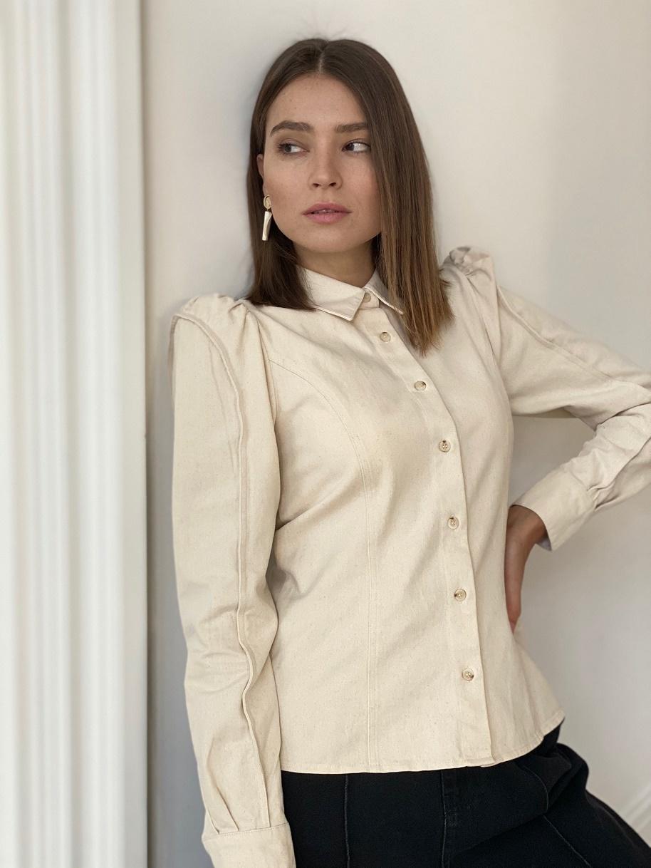 Рубашка, UNO, Greatness (светло-бежевый)