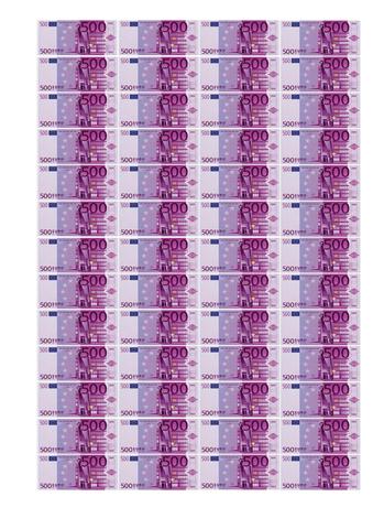 Печать на сахарной бумаге, Набор Купюр 500 Евро 5