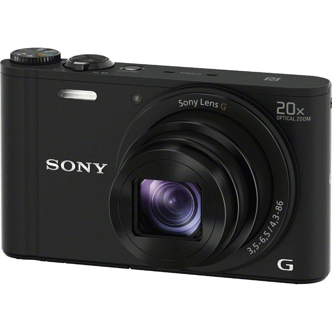 DSC-WX350B цифровой фотоаппарат Sony Cyber-Shot, черный (Витринный образец)