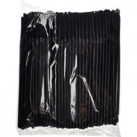 Трубочки для коктейля 0,5x21 см.  250 шт/уп. черные с гофрой