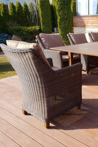 Кресло «Тоскана» из искусственного ротанга, цвет коричневый