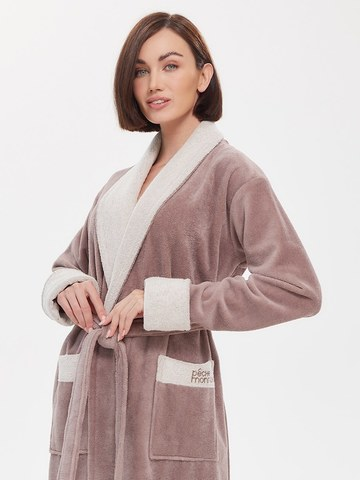 Бамбуковый женский халат  747 капучино PECHE MONNAIE Россия