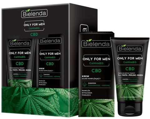 BIELENDA Only For Men CBD Подарочный набор (крем 50мл + паста 3в1 150г)