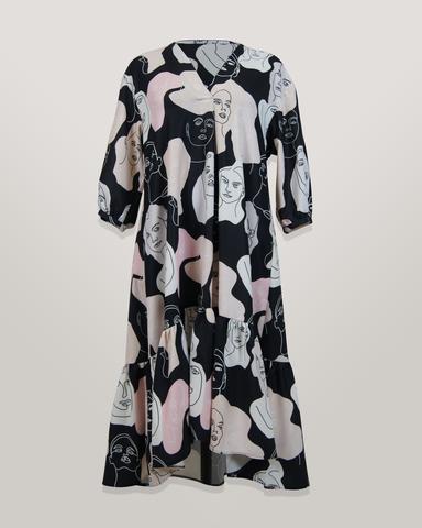 Платье Kate 4008 волан лица к/р