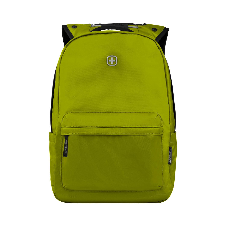 Рюкзак WENGER Photon с водоотталкивающим покрытием, цвет салатовый, отделение для ноутбука 14