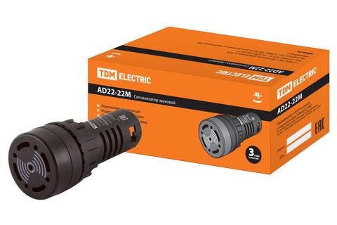 Сигнализатор звуковой AD22-22M/k31 d22 мм 220В AC черный TDM